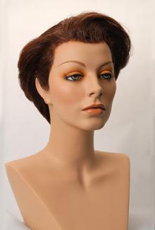 Style 1400 Color Dark Auburn - Female,  Mannequin Head